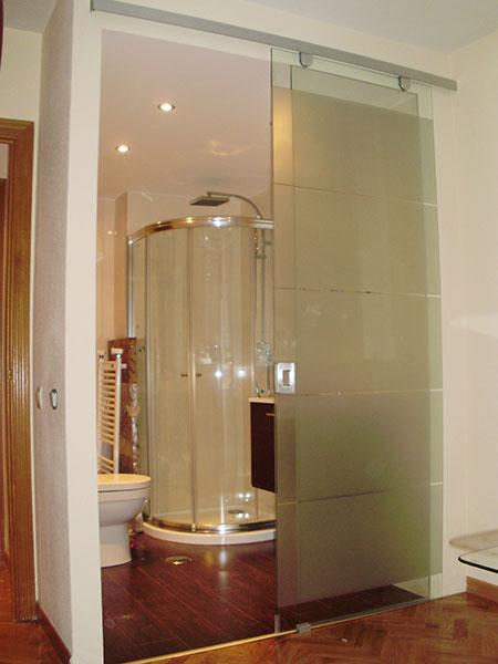Pincel cristal mamparas de ba o y puertas de cristal con - Puertas corredizas para bano ...